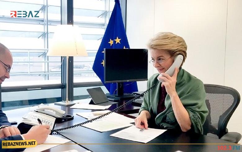 أردوغان يبحث مع رئيسة المفوضية الأوروبية عودة اللاجئين السوريين