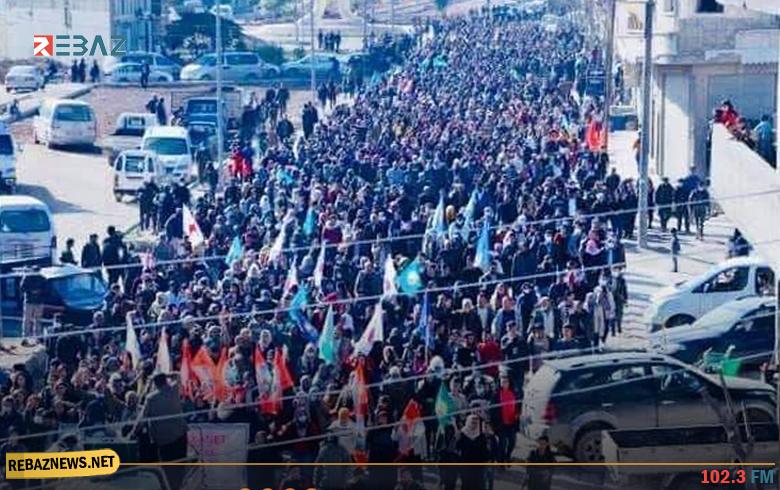 رغم الحظر وكورونا... PKK يجبر أهالي كوردستان سوريا على الخروج بتظاهرات ضد إقليم كوردستان