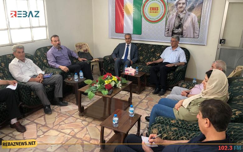 قامشلو.. وفد من الاتحاد السرياني يزور مكتب المجلس الوطني الكوردي