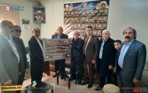عوائل شهداء بيشمركة روج ووفود سياسية ووطنية تهنىء المسؤول الجديد لمنظمة دوميز للكوردستاني - سوريا