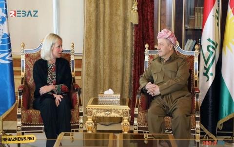 الرئيس بارزاني وبلاسخارت يتباحثان الحلول بشأن الأزمة العراقية