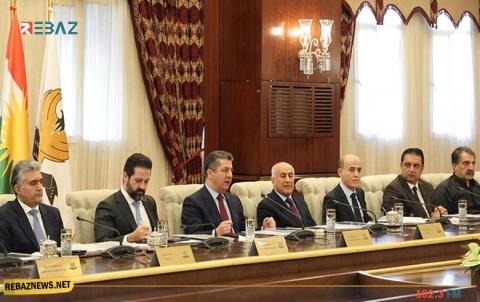 مجلس وزراء إقليم كوردستان يتخذ عدداً من القرارات في جلسته الاعتيادية