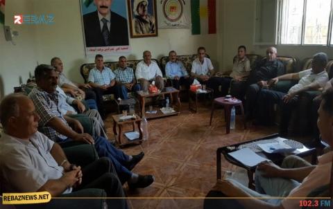 مجلس محلية الشهيد نصر الدين برهك جل آغا - آليان لـENKS يعقد اجتماعه الاعتيادي