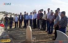 وفد من منظمة مخيم قوشتبة لـPDK-S يزور مزار الفنان والبيشمركة الراحل سعيد كاباري
